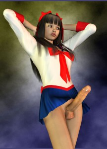 big dicked 3d dickgirl